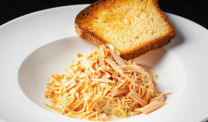 Foie gras parfait, pěna z kachních jater s hruškami, Gewürztraminer želé a brioška : Miroslav Kalina : Kalina Cuisine & Vins
